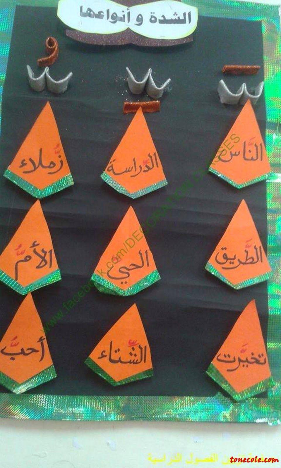 مدرستك تعرف على أهم الأفكار لعمل الشدة وأنواعها Learning Arabic Teach Arabic Arabic Language