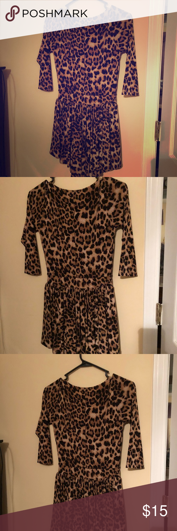 Cheetah Print Dress Long Sleeve Animal Print Dress It Is Stretchy And Easy To Move In I Only Wo Cheetah Print Dress Animal Print Dresses Printed Long Dresses [ 1740 x 580 Pixel ]