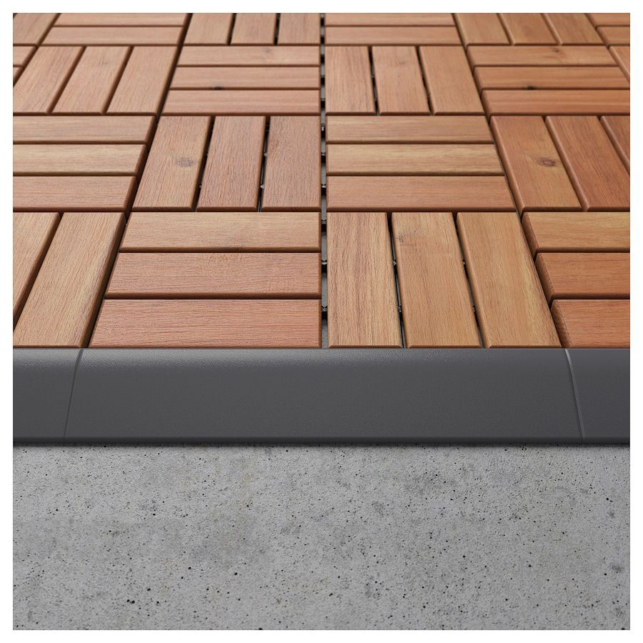 IKEA RUNNEN Edging strip, outdoor decking  Outdoor deck, Diy deck