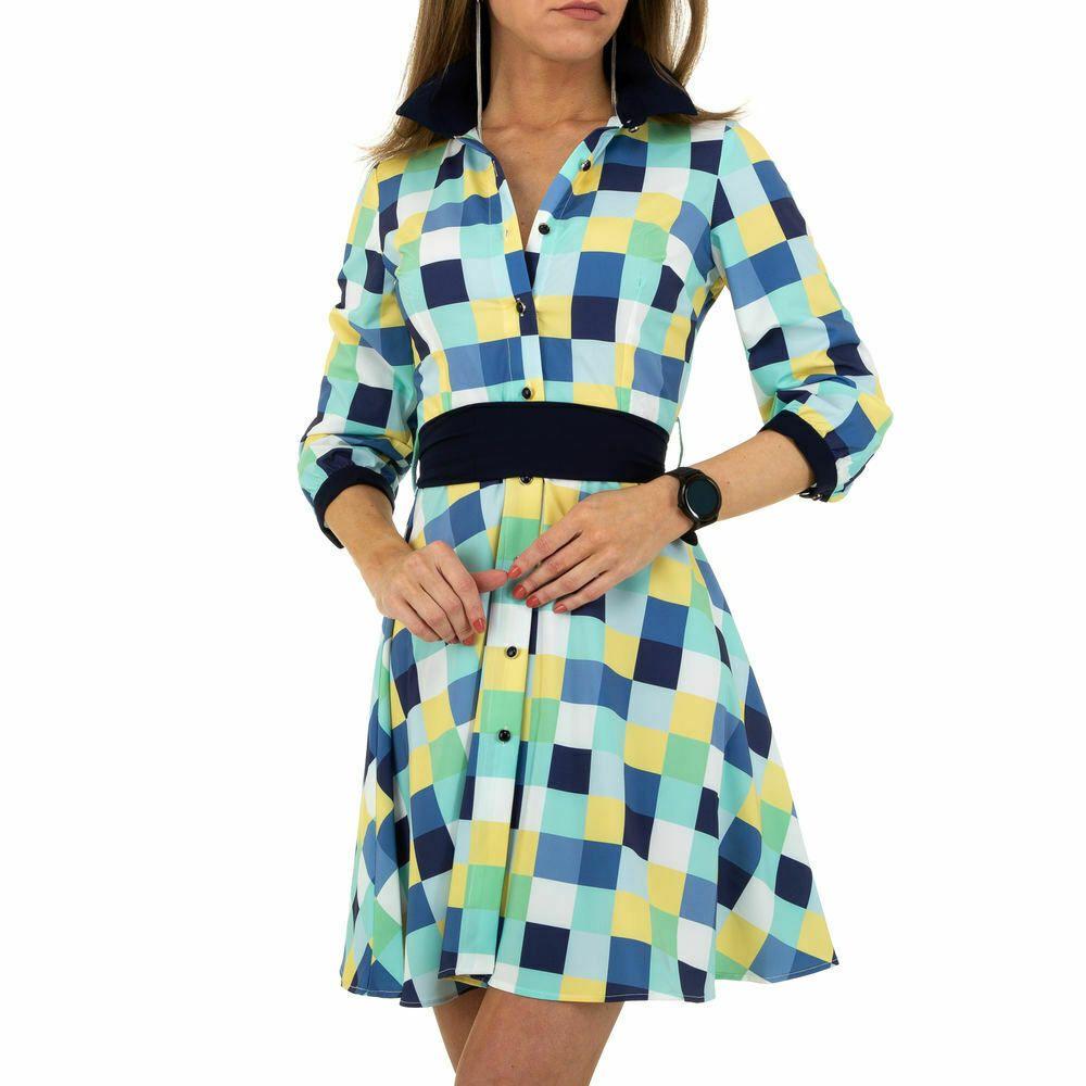 gemustertes blusen damen kleid xxl blau 8610   ebay in 2020