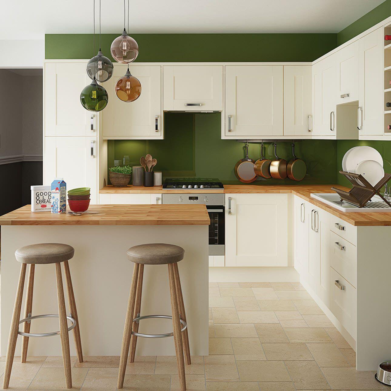 Hudson Cream Green kitchen walls, Kitchen renovation