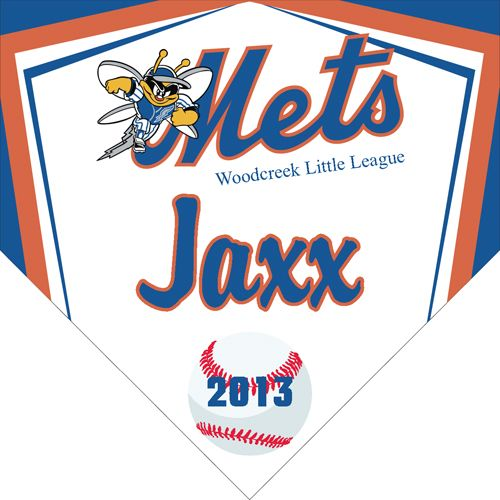 Mets Digitally Printed Vinyl Baseball And Little League Sports Team Pennant Made In The Usa And Shipped Fast By Ban Digital Banners Baseball Bag Little League