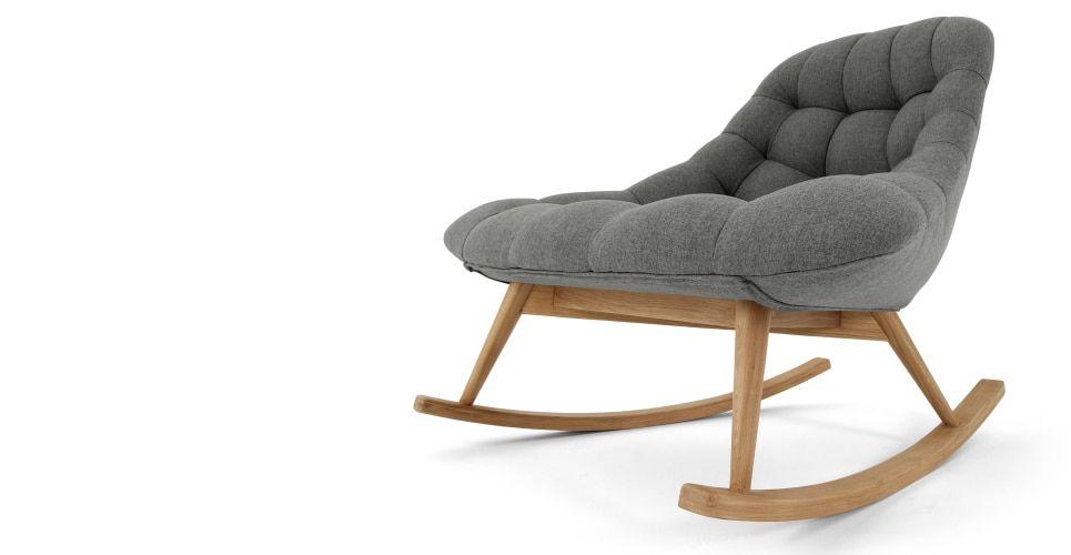 Kolton schommelstoel mergelgrijs interieur