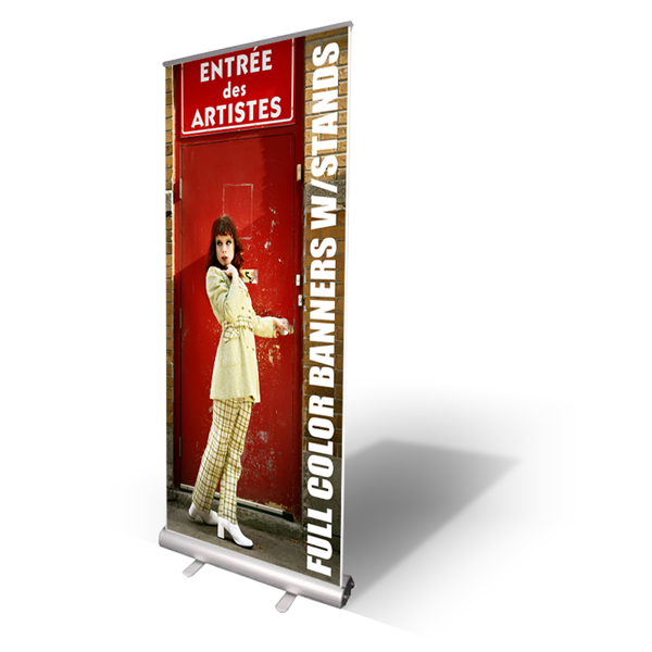 10mil Indoor Vinyl Banner With Aluminum Retractable Stand Premium Business Card Printing By Pre Vinyl Banners Retractable Banner Stand Printing Business Cards
