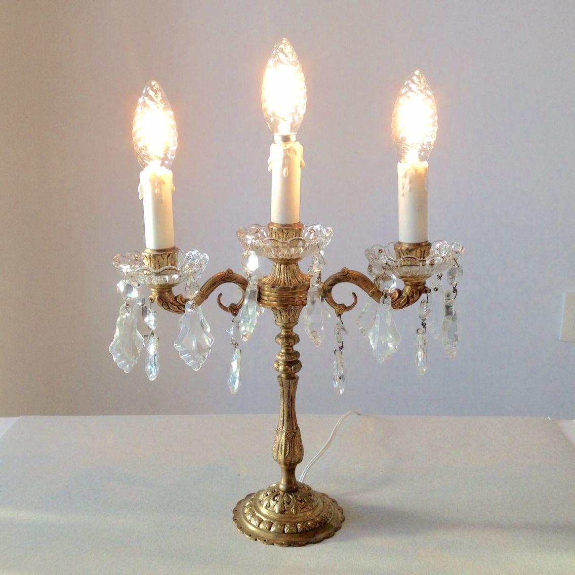 Vintage crystal candelabra chandelier lamp restored and re wired vintage crystal candelabra chandelier lamp restored and re wired solid bronze and crystal aloadofball Choice Image