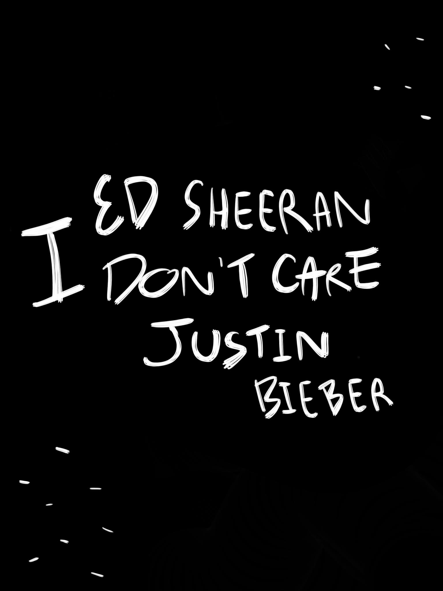Wallpaper Ed Sheeran Justin Bieber I Don T Care Idc Me Too Lyrics Ed Sheeran Ed Sheeran Justin Bieber