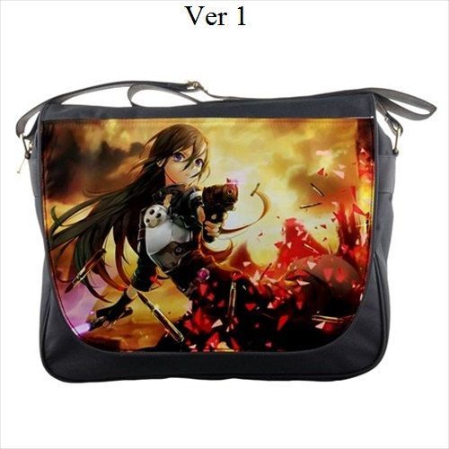 Anime Sword Art Online SAO Character Kirito Asuna Backpack School Shoulder Bag