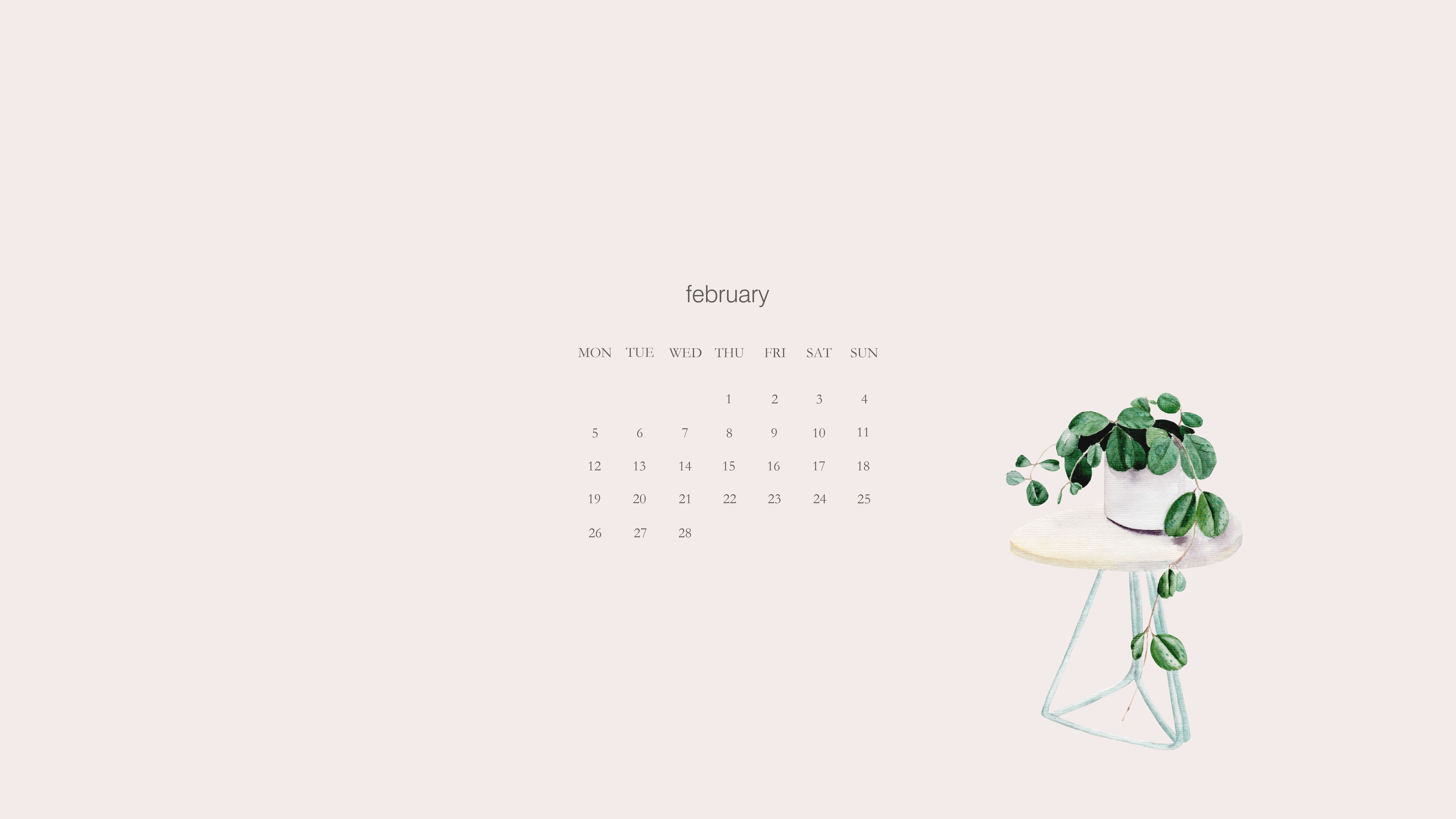 Downloads February Wallpapers Simple + Beyond