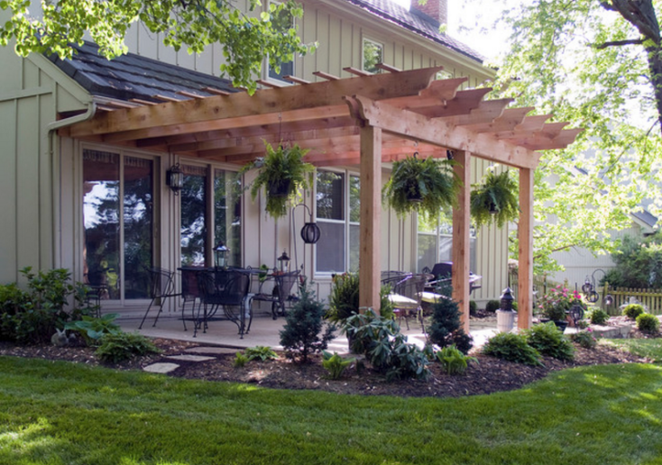Patio pergola. More - Creative Pergola Designs And DIY Options Landscaping Patio
