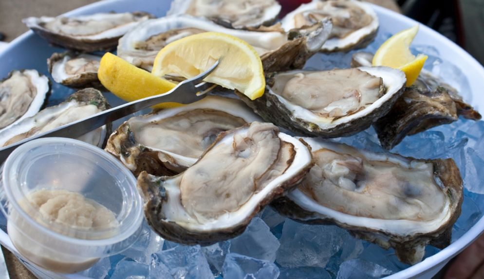Happy Hour Oysters, the best on the beach some have said