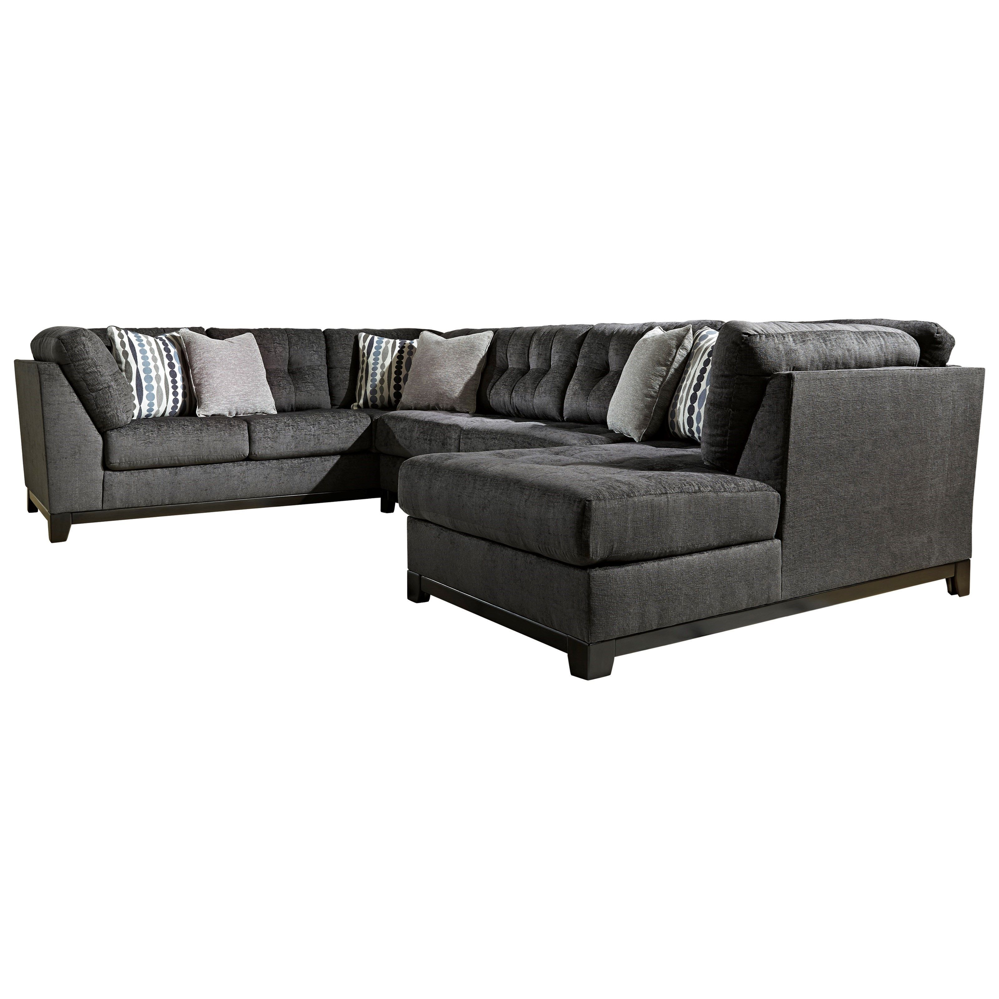 Ashley Furniture Reidshire Sectional Sofa With Right Side Chaise Item Number 6760266 34 17 Sectional Grey Upholstery Ashley Furniture