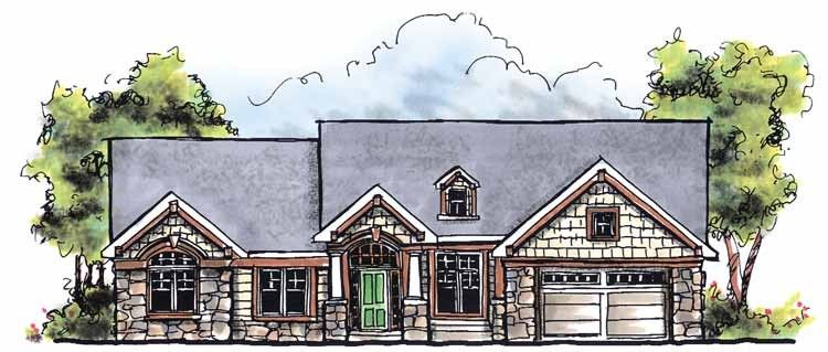 Traditional Style House Plan 3 Beds 2 Baths 1810 Sq Ft Plan 70 613