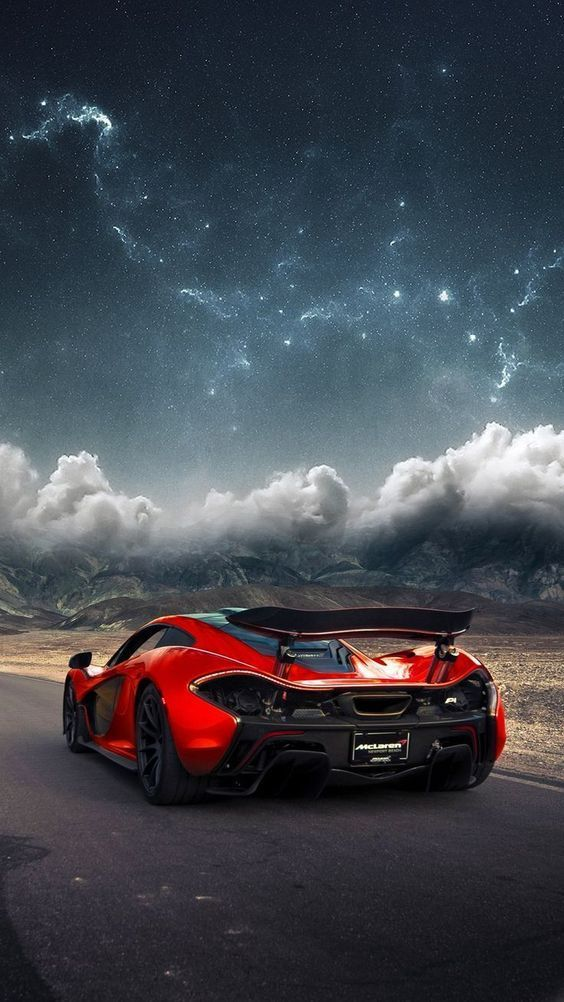 Beautiful view with Red McLaren P1 ready to cruise with this nice car? Beautiful and nice automobil