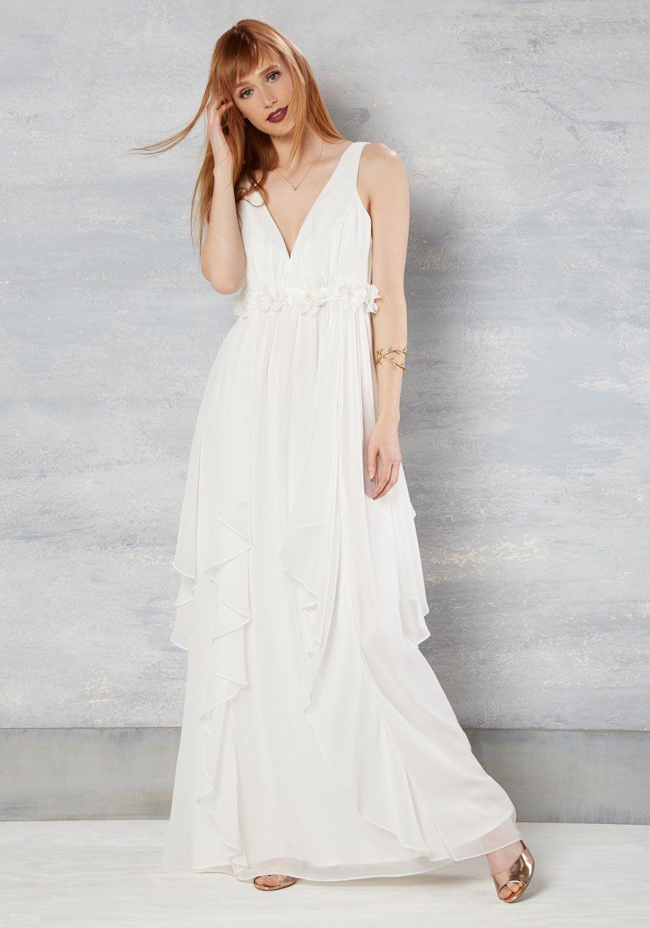Floral print wedding dresses  Slow Dance Splendor Maxi Dress in White in XS  Slow dance Cassie