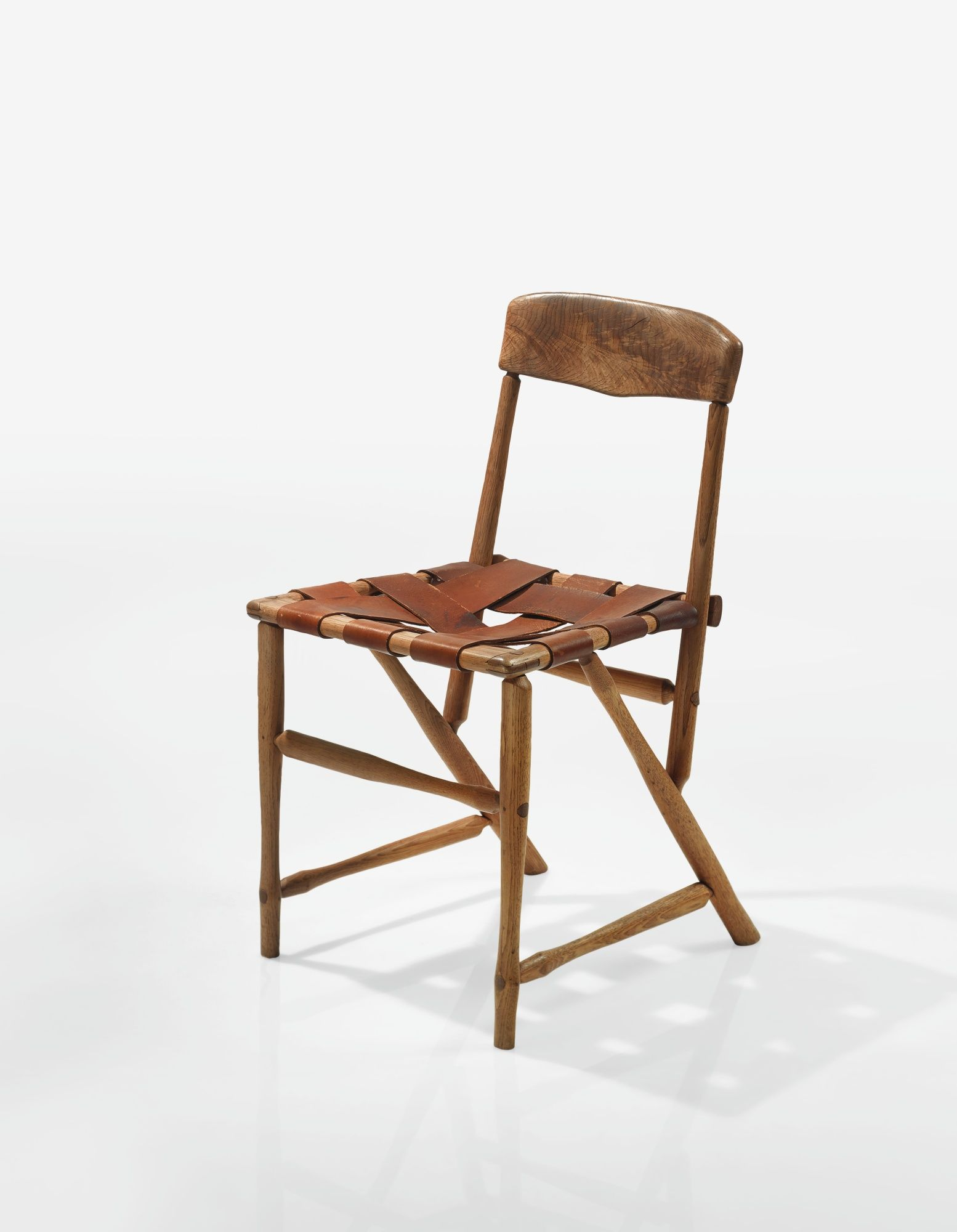 Wharton Esherick Side Chair 1935 Oak And Leather Sotheby S Furniture Chair Leather Wood Chair Chair