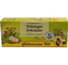 Goldmännchen Thüringer 9-Kräuter Tee. #LeckeresausThüringen