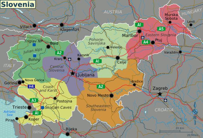 karte istrien slowenien Landkarte Slowenien (touristische Karte) : Weltkarte.  Karten