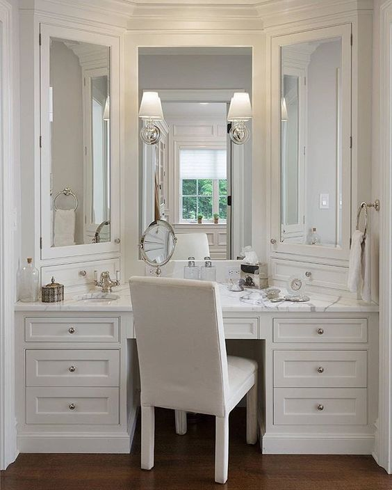 Bathroom Vanity With Seating Area Ideas