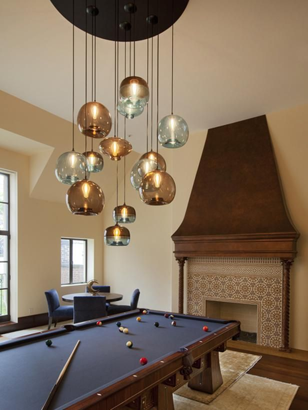 Love The Unique Lighting Above The Pool Table Random Best Pool Table Living Room Design Design Decoration