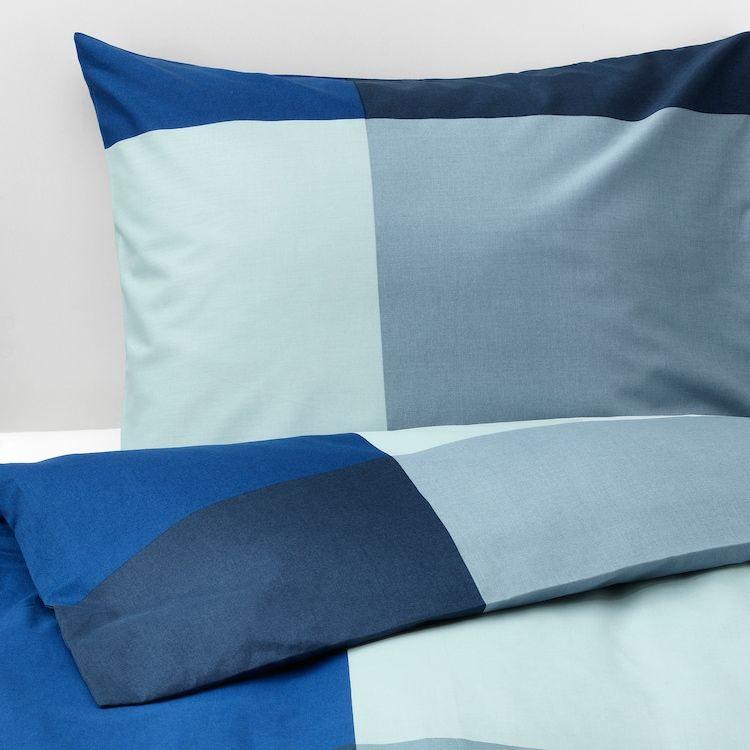 Brunkrissla Duvet Cover And Pillowcase S Blue Gray Ikea Duvet Covers Gray Duvet Cover Duvet