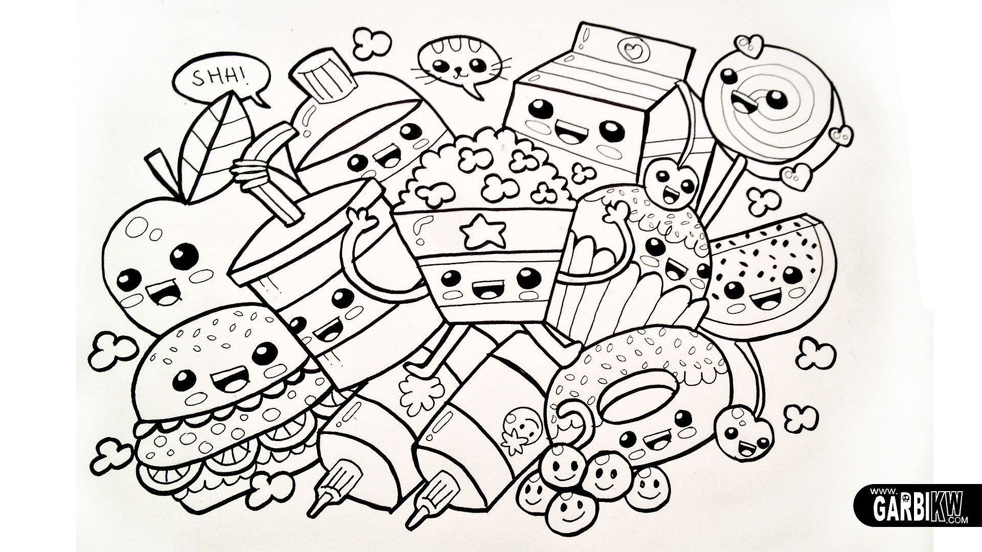 Download Or Print This Amazing Coloring Page Cute Kawaii Food Coloring Pages Kawaii Chibi In 2020 Unicorn Coloring Pages Animal Coloring Books Animal Coloring Pages