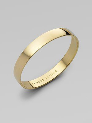 Kate Spade New York Idiom Goldplated Bracelet As Good Gold
