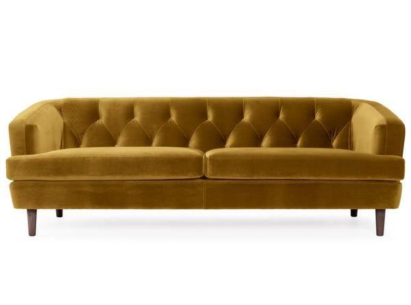 Magnificent Baxter 3 Seater Velvet Sofa Deep Mustard Dark And Pdpeps Interior Chair Design Pdpepsorg