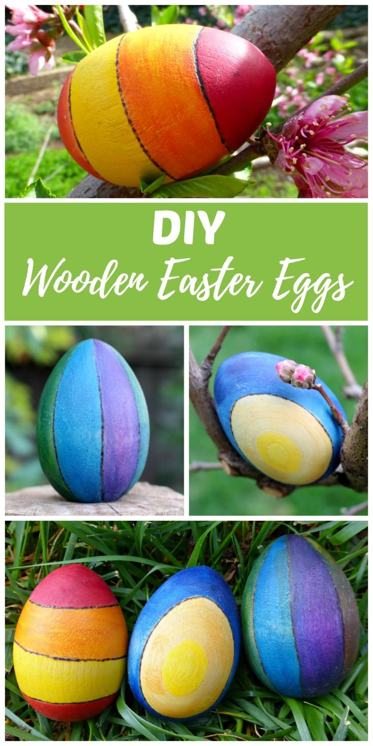 diy wooden easter eggs craft idea egg decorating egg crafts and