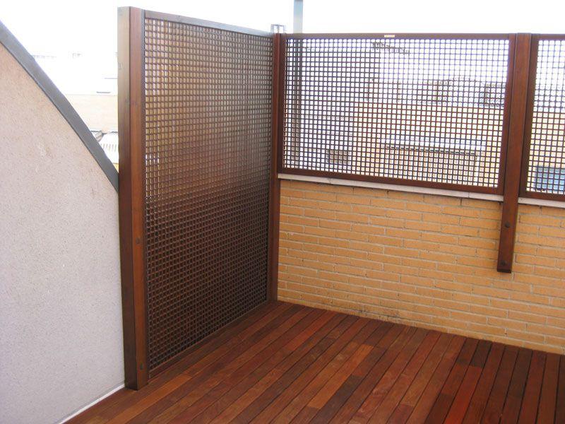 Celosias de aluminio para terrazas great with celosias de for Celosia madera ikea