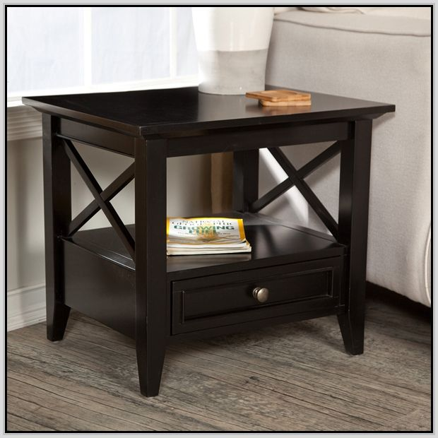 Black End Tables With Drawer End Tables With Drawers Black End Tables End Tables