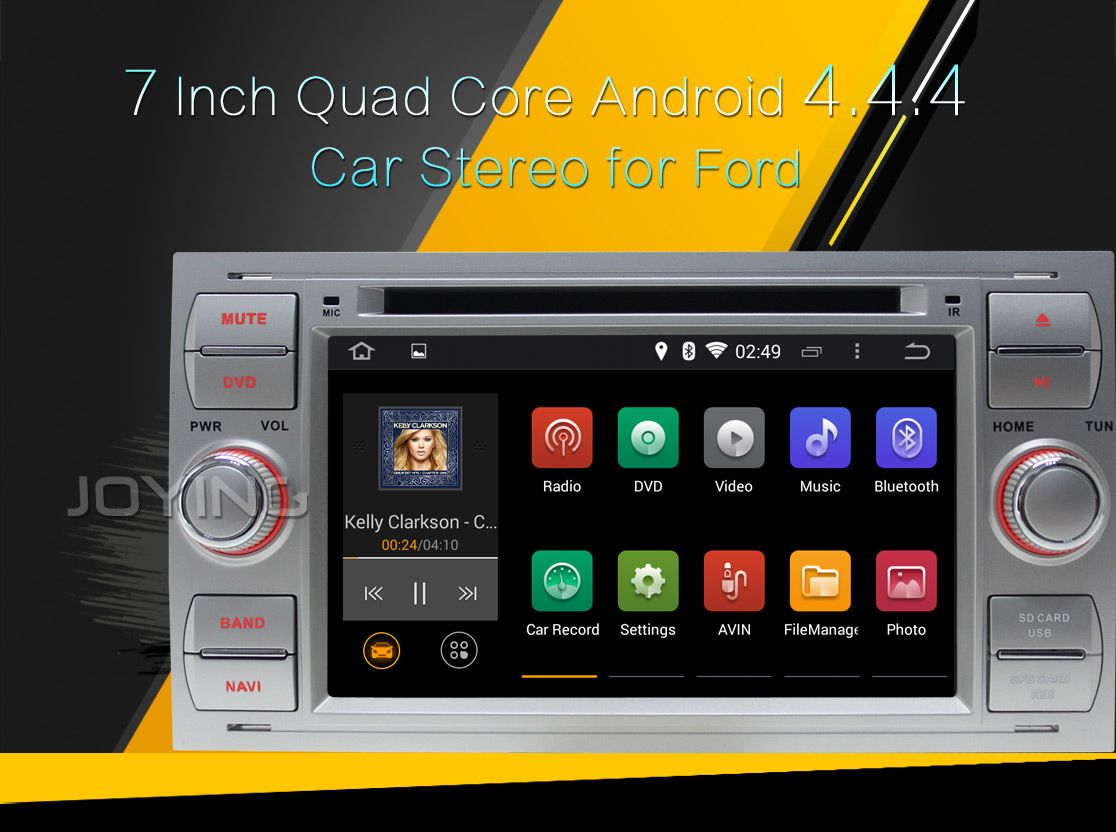 ford quad core android 4 4 4 kitkat 16Gb hd in dash car stereo