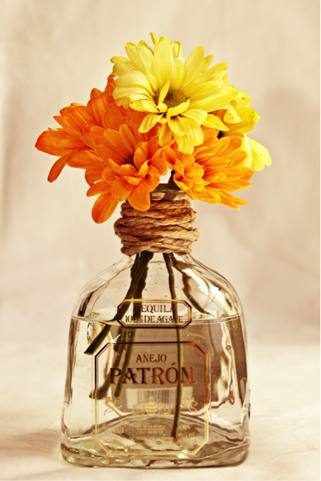 10 Things To Do With A Leftover Liquor Bottle Diy Pinterest
