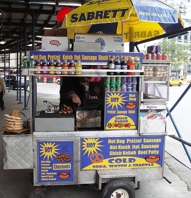 Sabrett S Hot Dog Stand Hot Dog Cart Hot Dog Stand Hot Dogs
