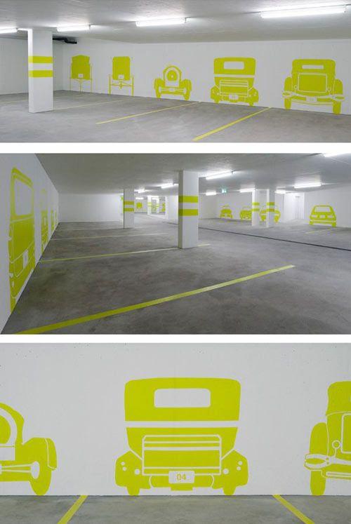 Beneath The Surface Parking Design Signage Design
