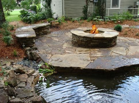 firepit patio bench/wall seating http://www ... on For Living Lawrence Fire Pit id=99549