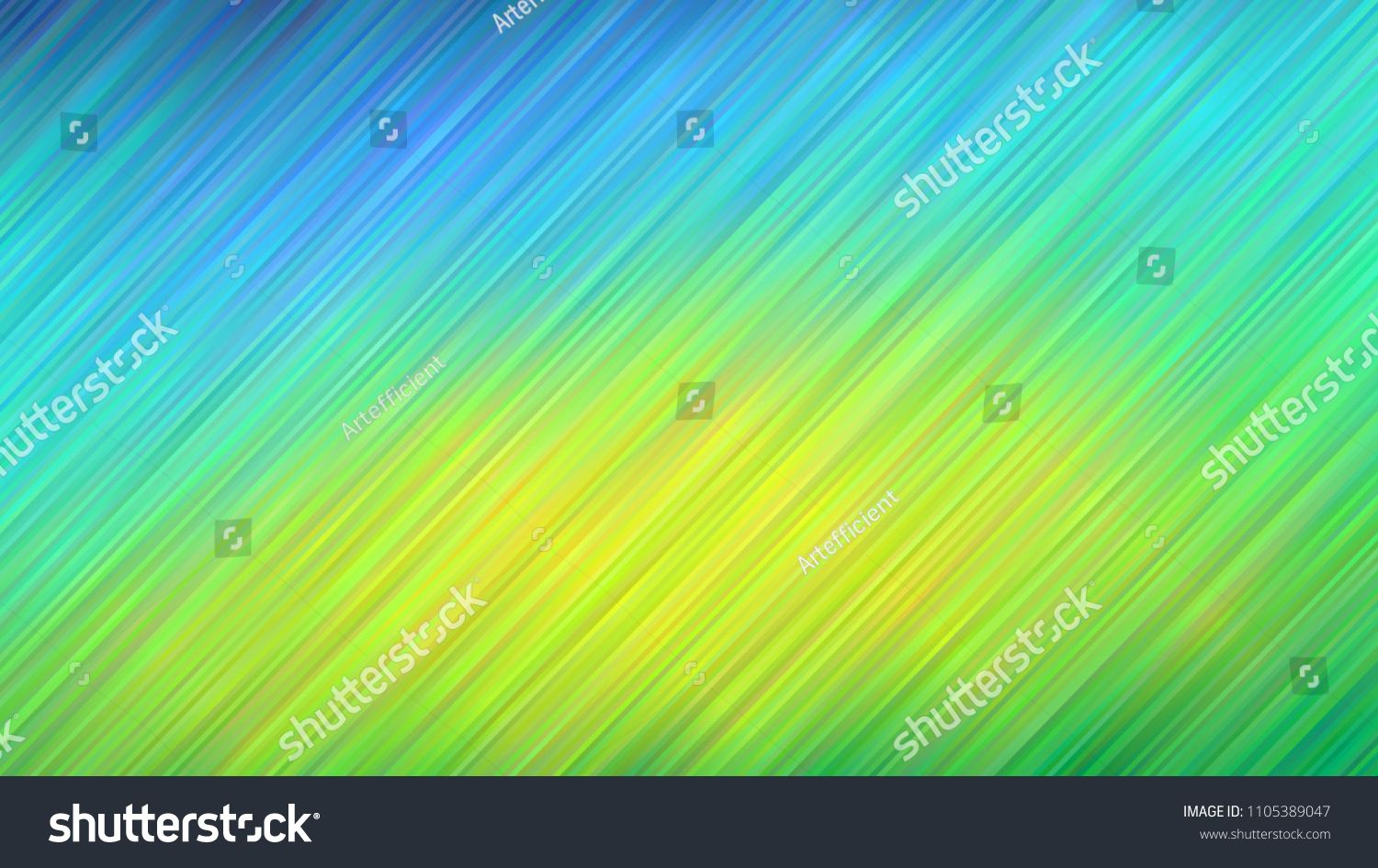 Blue to Lime Green Vivid Gradient Stripes Vector