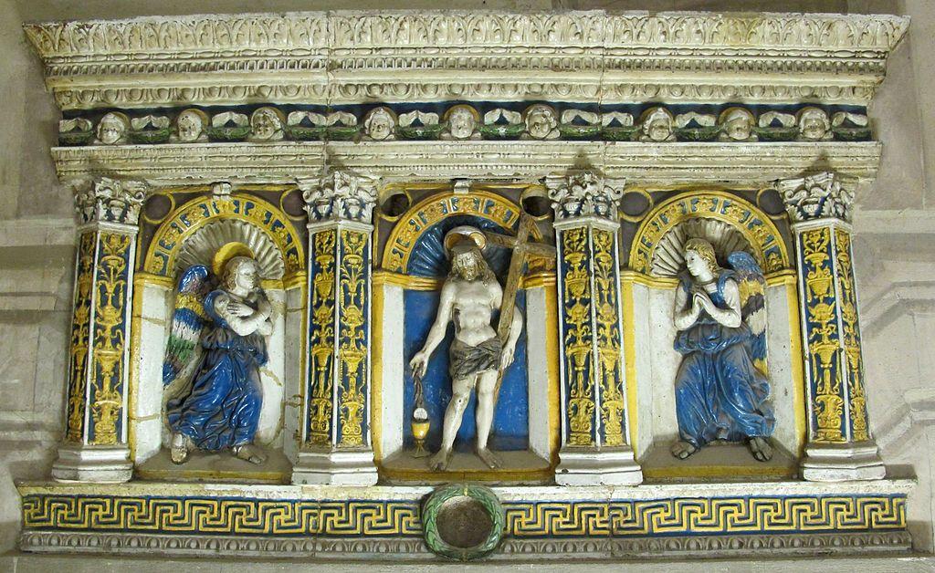 Oratorio di San Pierino - Firenze - Vestibolo - Giovanni della Robbia - Cristo tra due angeli