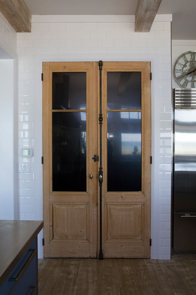 Kitchen pantry antique doors. The pantry features a 19th Century pair of  French Doors w - Kitchen Pantry Antique Doors. The Pantry Features A 19th Century