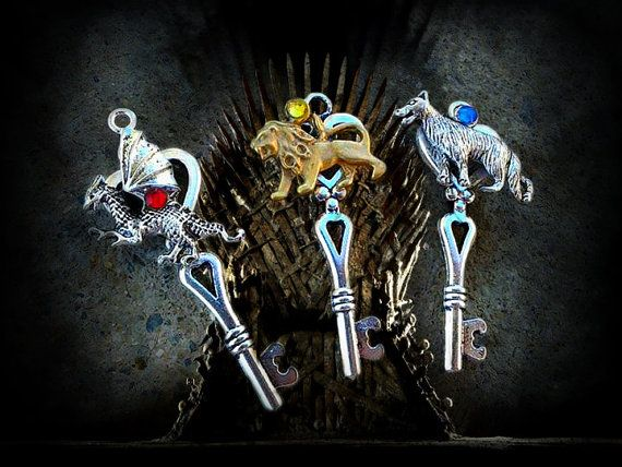 Game of Thrones House Key Set by ArtbyStarlaMoore on Etsy, $30.00