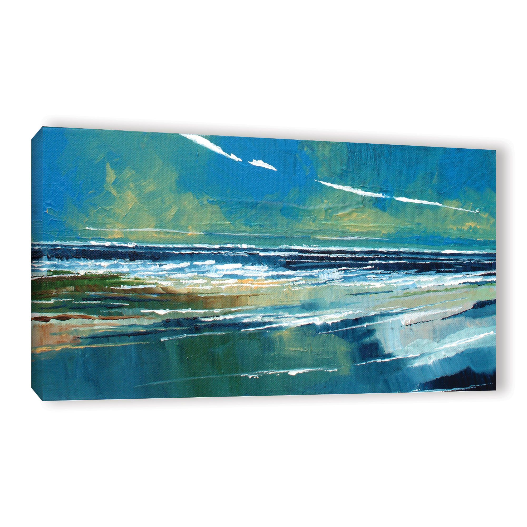 Stuart Roy Rectangular Sea View I Painting Print on Wrapped Canvas