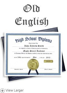 High School Diploma Case With Personalized Certificate High - Free high school diploma template with seal