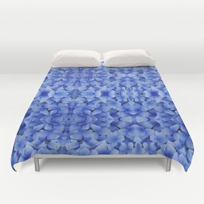 Petals in Blue Duvet Cover by Vikki Salmela - $99.00 #new #blue #flower #Hydrangea #photography #pattern #art on #duvet #cover for your #bed #bedroom #home #decor #apartment and #FREE #worldwide #shipping through #September 14th!