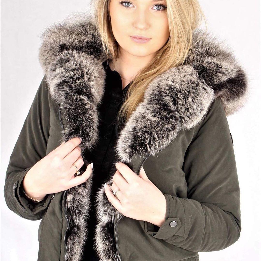 Glare Furs Futra Naturalne On Instagram Street Style Look Idealna Parka Dla Instagirl Z Topowych Kurtek Naszej Najnowszej Kole Style Fashion Coat