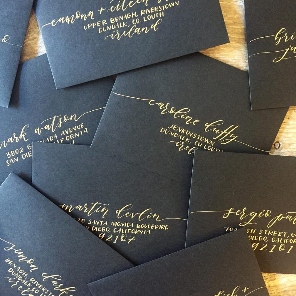 How To Label A Wedding Gift Envelope : ... Envelope lettering, Address an envelope and Wedding invitation