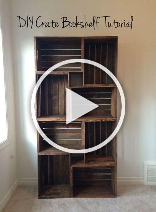 Photo of DIY Bücherregal aus Holzkisten – eine großartige Möglichkeit, diese Kisten aufzustellen …