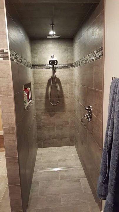 douche c ramique sans porte salle de bain pinterest douches portes et salle de bains. Black Bedroom Furniture Sets. Home Design Ideas