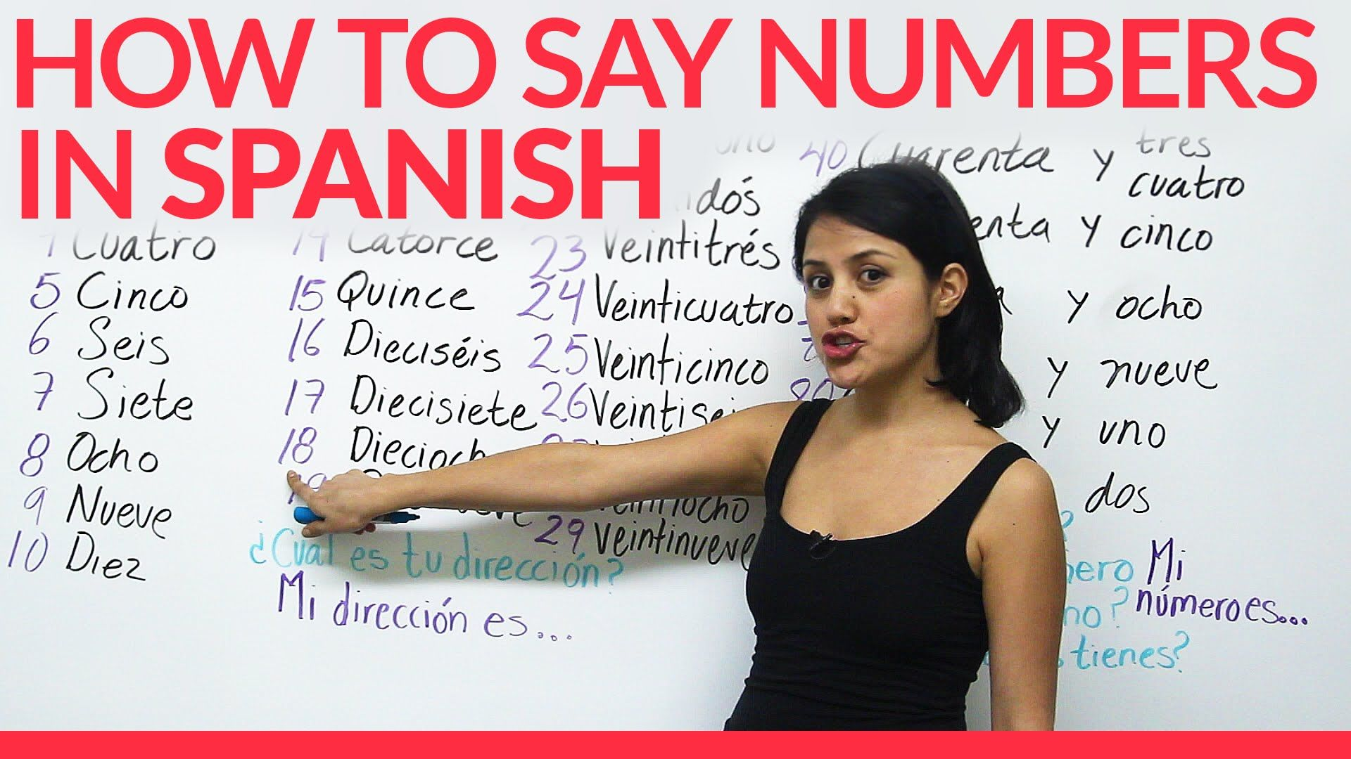 Learn how to say numbers in Spanish Learning spanish