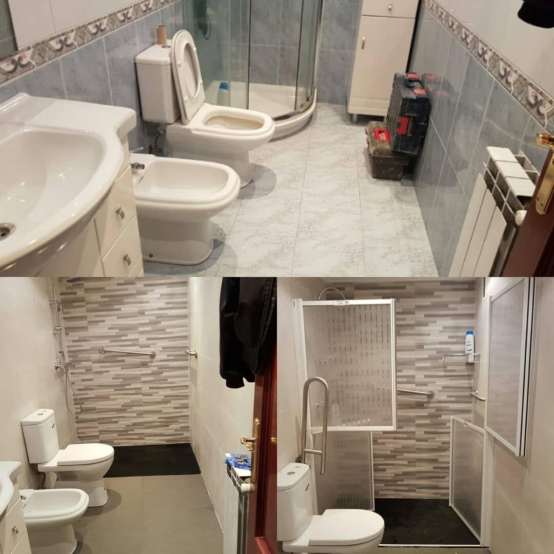 Reforma de baño para adaptarlo a minusválidos. #reformas # ...