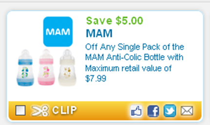 photo about Mam Printable Coupon named $5 off MAM Anti-Colic Bottles Coupon discount codes and specials within