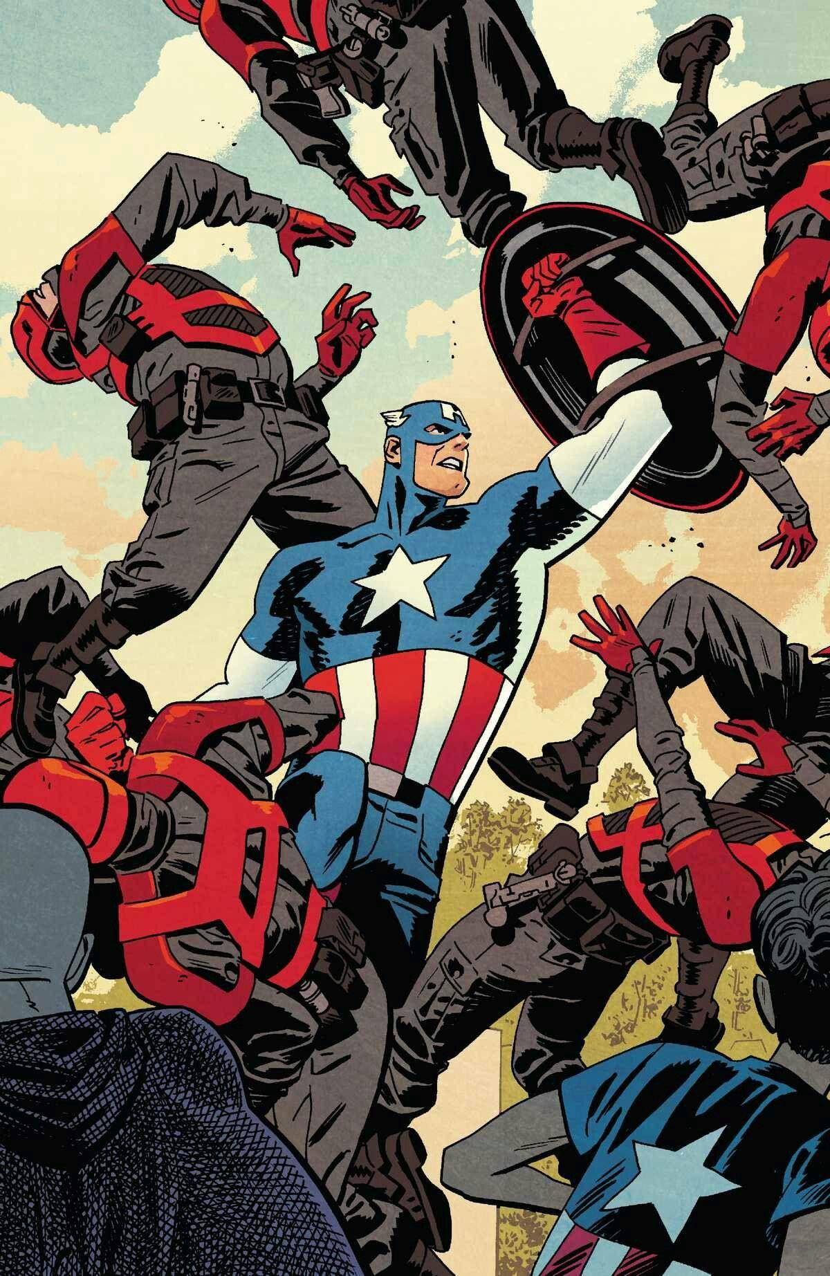 Captain America by Chris Samnee Marvel cómics, Cómics